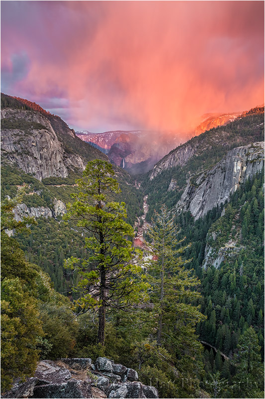 Red Veil, Bridalveil Fall, Yosemite