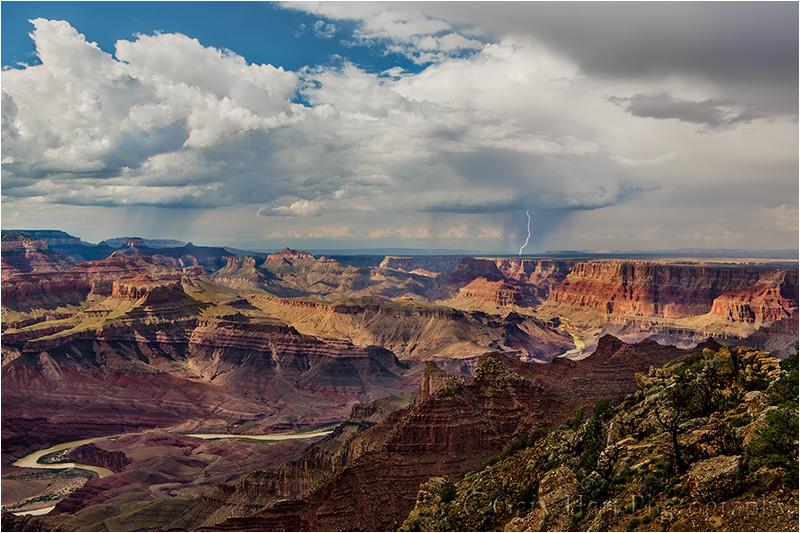 Lightning Strike, Colorado River, Grand Canyon