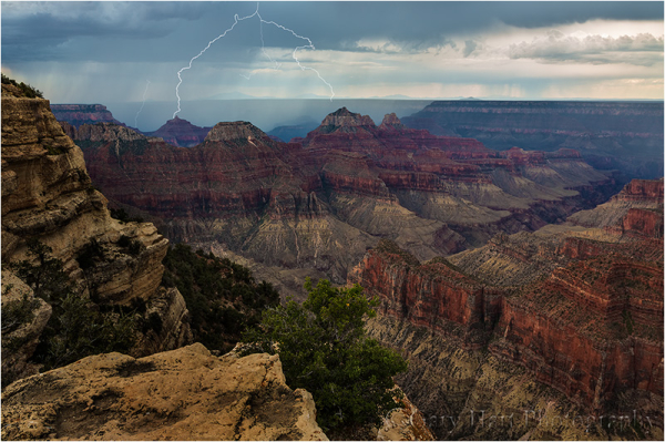 Lightning Strikes Angel's Gate, Grand Canyon
