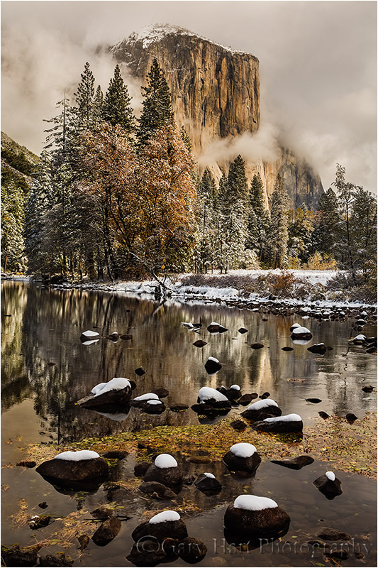 El Capitan and Fresh Snow, Yosemite