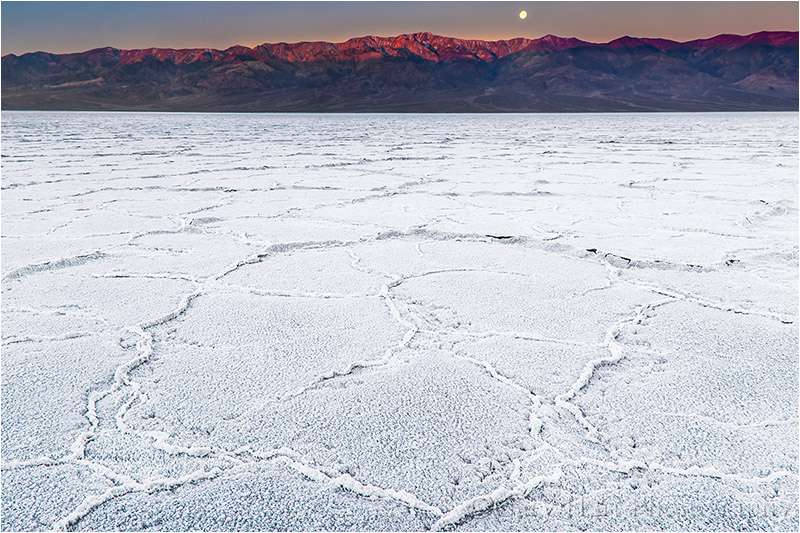 Moonset, Badwater and Telescope Peak, Death Valley