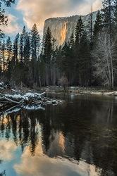 Reflection, El Capitan & Horsetail Fall, Yosemite