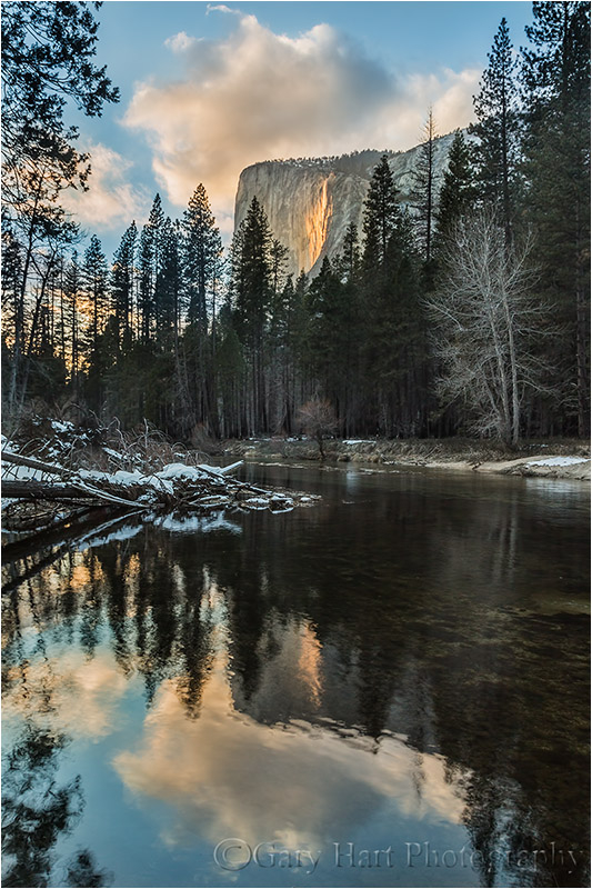 Reflection, El Capitan & Horsetail Fall, Yosemite