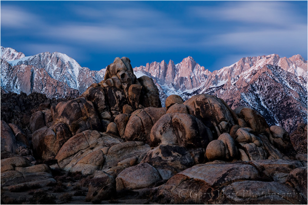Before Sunrise, Mt. Whitney and the Alabama Hills