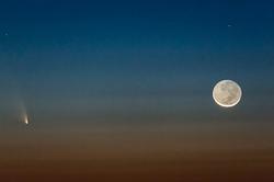 Comet PanSTARRS & New Moon, Haleakala, Maui