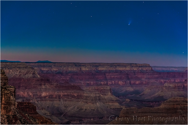Comet PanSTARRS and the Grand Canyon by Moonlight