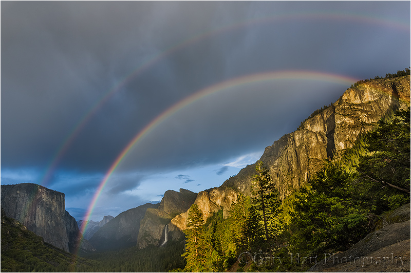 Double Rainbow, Tunnel View, Yosemite Valley