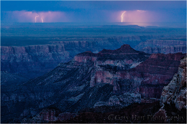 Twilight Lightning, Roosevelt Point, Grand Canyon