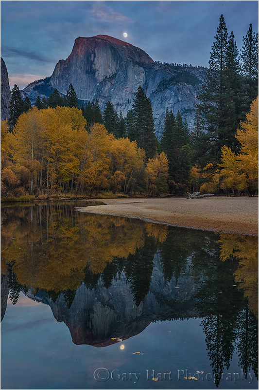 Moonrise Reflection, Half Dome & the Merced River