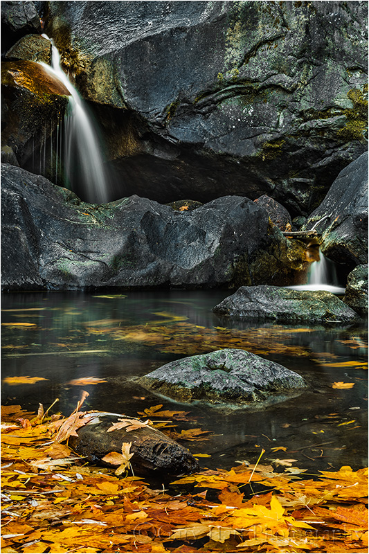 Cascade in Autumn, Bridalveil Creek, Yosemite