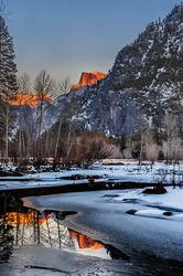 Moonrise, Half Dome and the Merced River, Yosemite