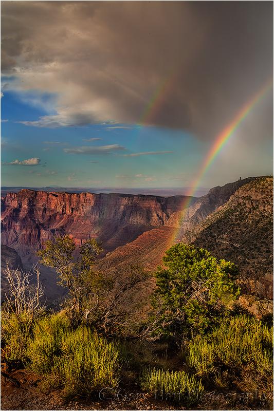 Double Rainbow, Lipan Point, Grand Canyon
