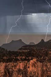 Too Close, North Rim Lightning, Grand Canyon