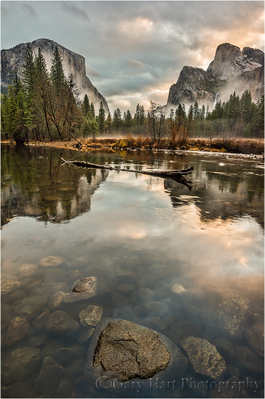 Rocks and Reflection, Valley View, Yosemite