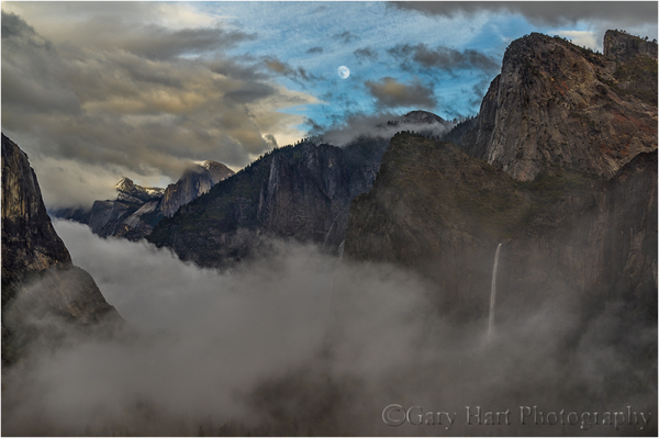 Parting the Clouds, Yosemite Valley Moonrise