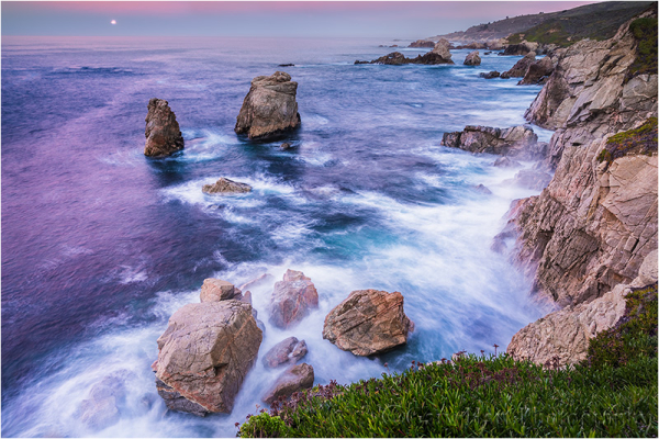 Moon on the Rocks, Soberanes Point, Big Sur