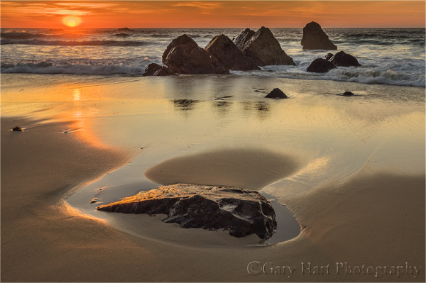 Rocks at Sunset, Garrapata Beach, Big Sur