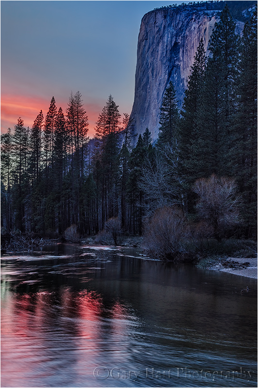 Sunset Reflection, El Capitan, Yosemite
