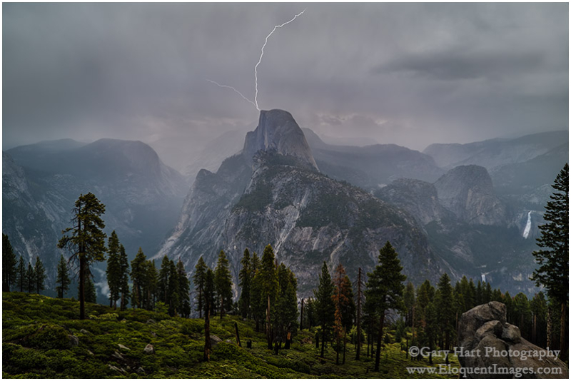 Half Dome Lightning Strike, Glacier Point,Yosemite