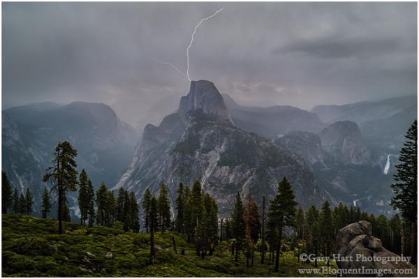 Half Dome Lightning Strike, Glacier Point,Yosemite
