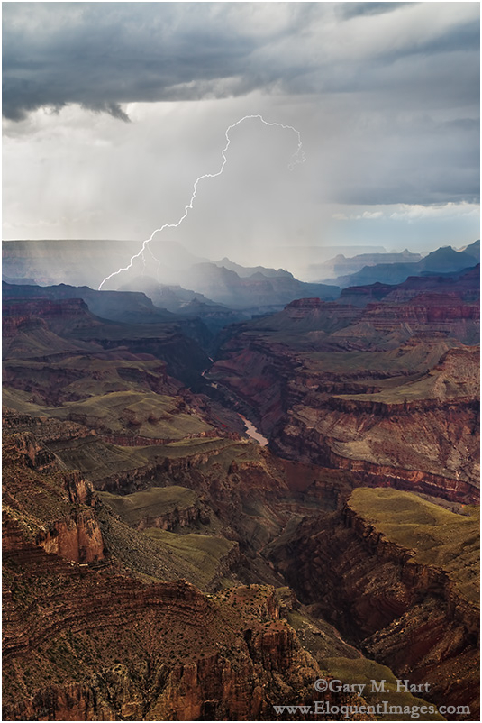 Lightning Strike, Lipan Point, Grand Canyon