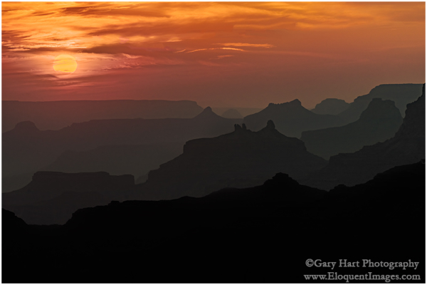 Sunset Silhouettes, Desert View, Grand Canyon