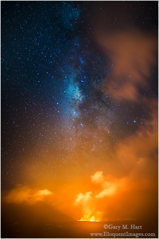 Starfire, Halemaumau Crater, Kilauea, Hawaii