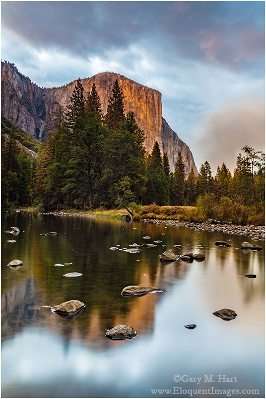 On the Rocks, El Capitan & Merced River, Yosemite
