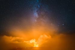 Fire and Mist, Halemaumau Crater, Kilauea, Hawaii