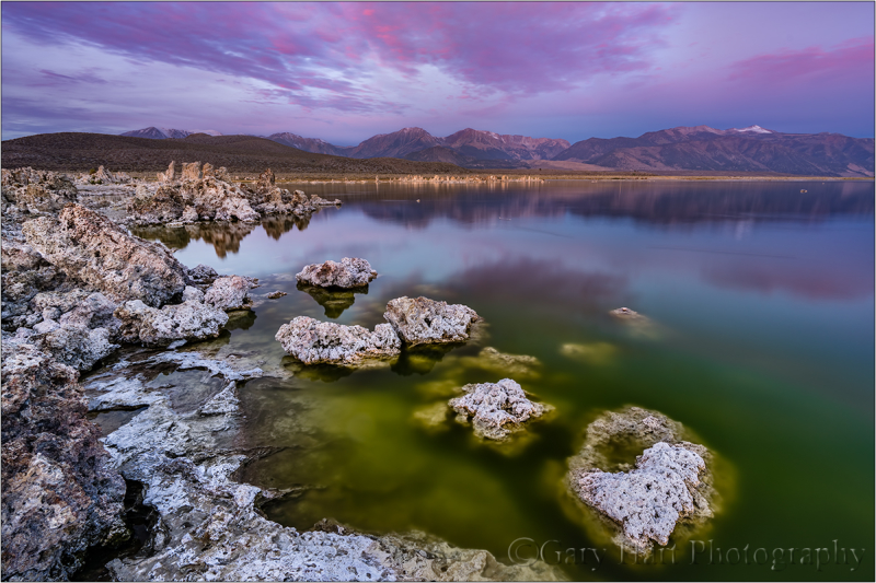 Dawn, Mono Lake and the Sierra Crest
