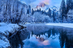 Winter Twilight Reflection, Half Dome, Yosemite
