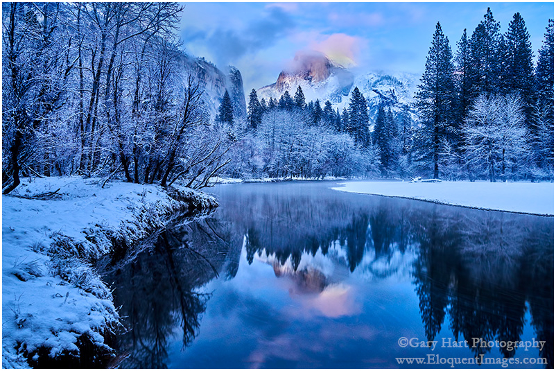Winter Twilight Reflection, Half Dome, Yosemite