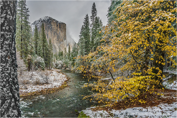 Autumn Snow, El Capitan, Yosemite