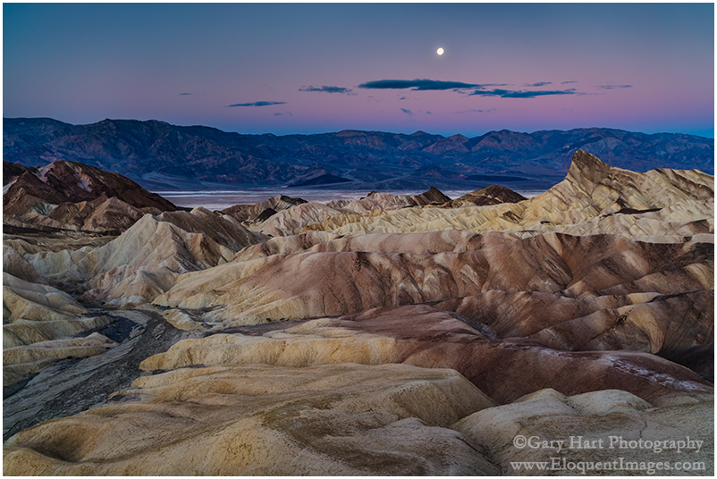 Winter Moon, Zabriskie Point, Death Valley