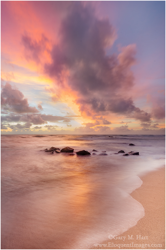Hawaiian Daybreak, Lydgate Beach, Kauai, Hawaii