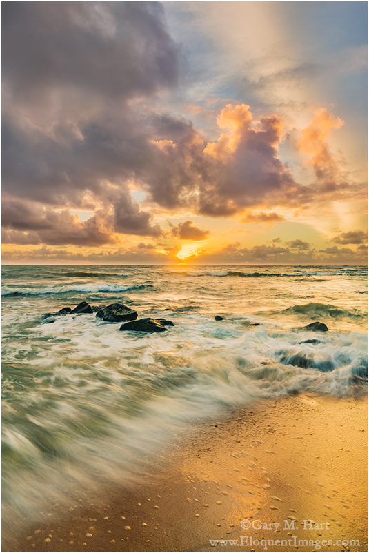 Here Comes the Sun, Lydgate Beach, Kauai, Hawaii