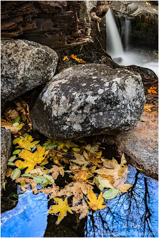Autumn Pool & Cascade, Bridalveil Creek, Yosemite