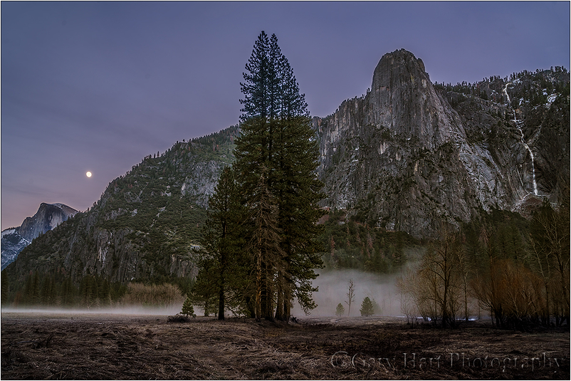 Nightfall, Half Dome and Sentinel Fall, Yosemite