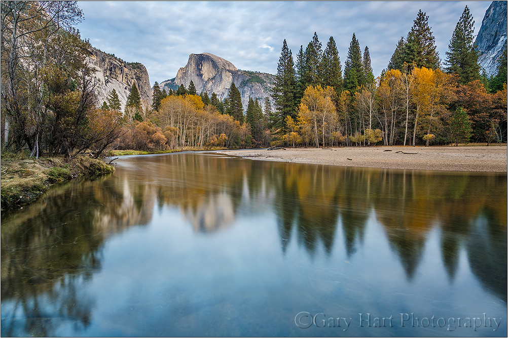 Autumn Mirror, Half Dome, Yosemite