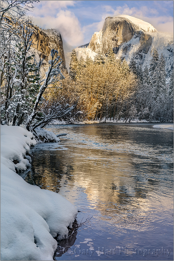 Frozen Reflection, Half Dome, Yosemite