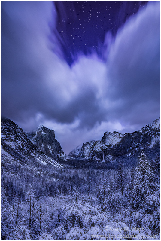 Silent Night, Yosemite Valley from Tunnel View