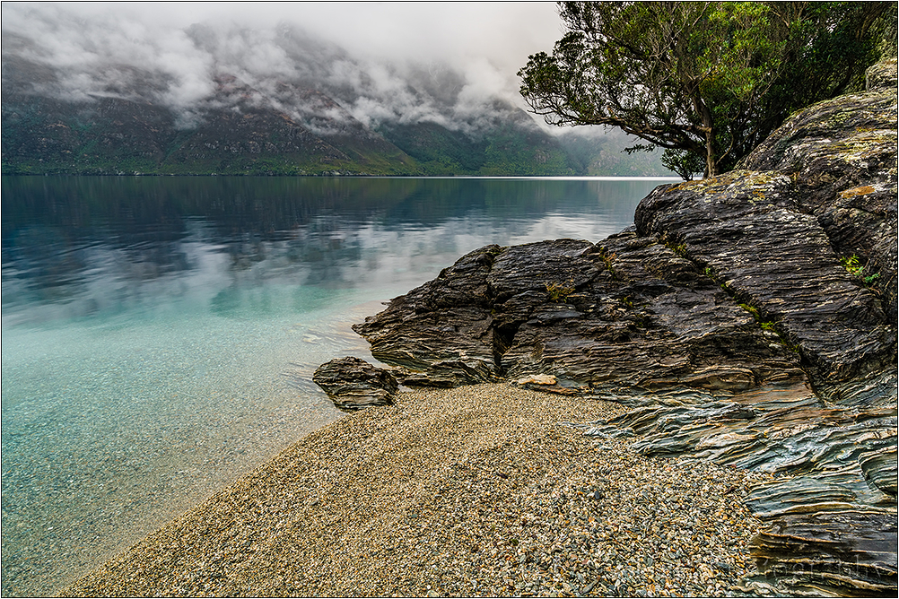 Overcast, Lake Wakatipu, New Zealand