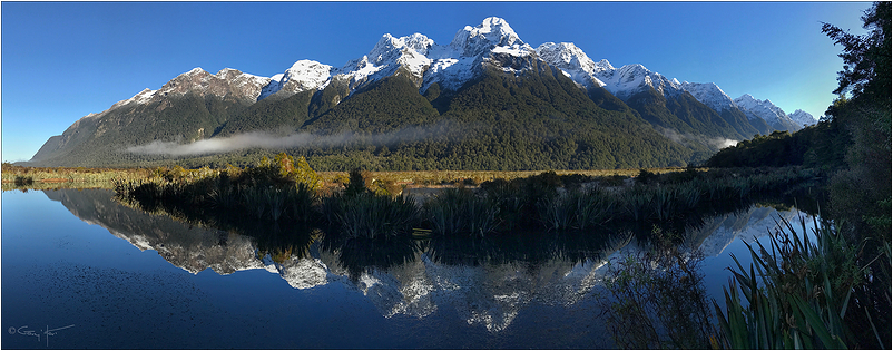 Mt. Eglinton, Mirror Lakes, New Zealand