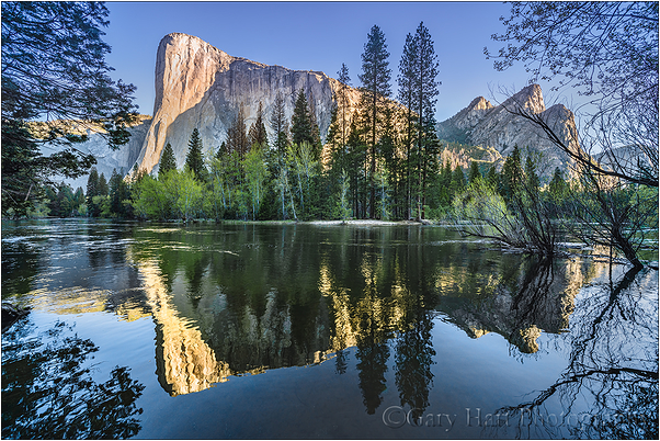 Reflection, El Capitan & Three Brothers, Yosemite