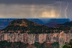 Twin Forked Lightning, North Rim, Grand Canyon