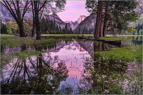 Spring Sunset, Leidig Meadow, Yosemite