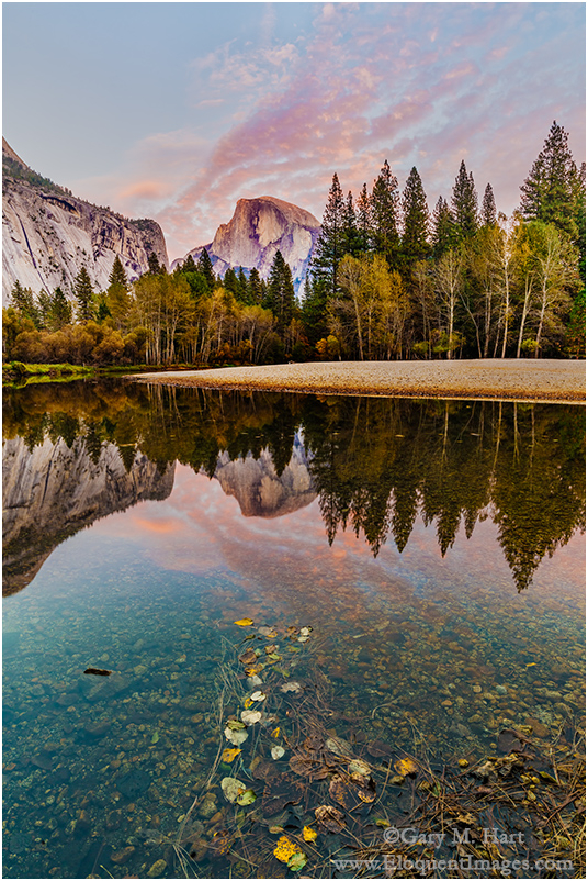 Autumn Reflection, Half Dome, Yosemite