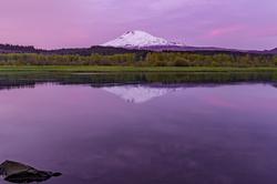 Sunset Calm, Trout Lake and Mt. Adams, Washington
