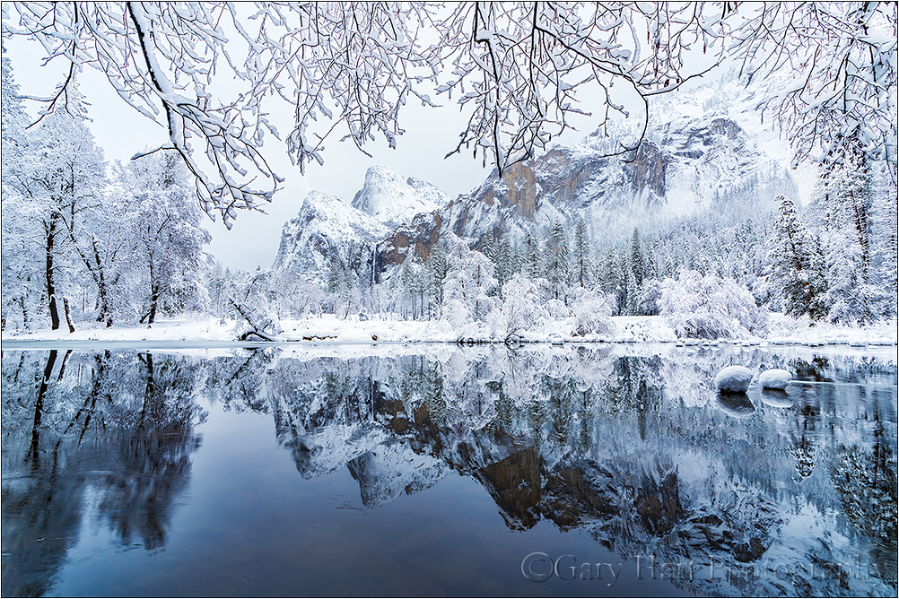 Winter Reflection, Bridalveil Fall, Yosemite