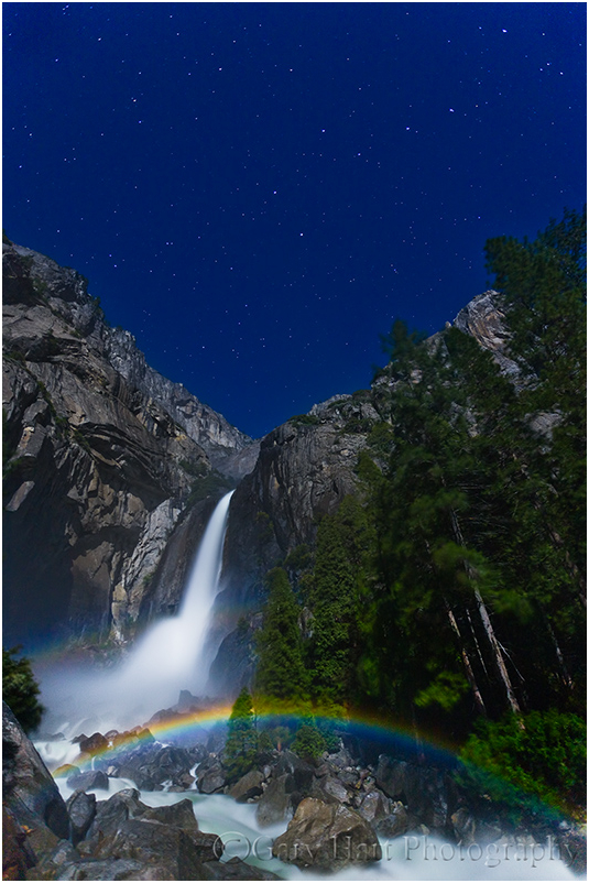 Moonbow & Big Dipper, Yosemite Fall, Yosemite